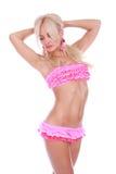 Ragazza in bikini dentellare fotografie stock libere da diritti