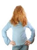 Ragazza bionda con capelli sopra il fronte Immagini Stock Libere da Diritti