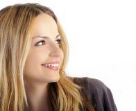 Ragazza bionda felice Fotografie Stock Libere da Diritti