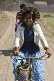 Ragazza birmana del venditore Fotografie Stock Libere da Diritti