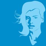 ragazza blu Fotografia Stock