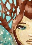 Ragazza blu royalty illustrazione gratis