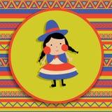 Ragazza boliviana Fotografia Stock
