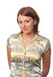 Ragazza Brown-haired Fotografia Stock