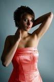 Ragazza brownhaired del ritratto Fotografia Stock