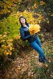 Ragazza, brunette Fotografie Stock Libere da Diritti