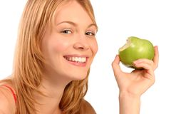 Ragazza in buona salute felice Immagine Stock Libera da Diritti