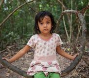 Ragazza cambogiana Fotografie Stock Libere da Diritti