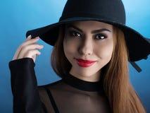 Ragazza in cappello Fotografia Stock
