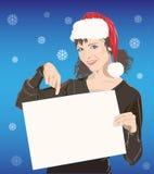 Ragazza in cappello della Santa royalty illustrazione gratis