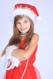 Ragazza in cappello di Santa Fotografia Stock Libera da Diritti