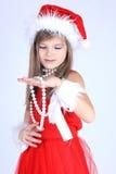Ragazza in cappello di Santa Fotografia Stock