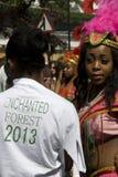 Ragazza caraibica al carnevale di Notting Hill Immagini Stock