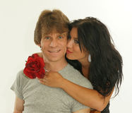 Ragazza che dà un bacio Fotografia Stock Libera da Diritti