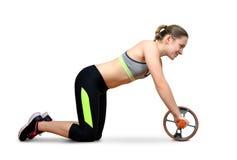 Ragazza che esercita forma fisica di allenamento aerobica Immagine Stock