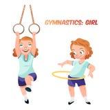 Ragazza che fa l'illustrazione relativa alla ginnastica di esercizi illustrazione di stock