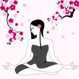 Ragazza che fa yoga Immagine Stock Libera da Diritti