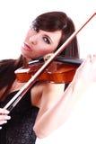 Ragazza che gioca il violino Fotografie Stock Libere da Diritti