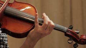 Ragazza che gioca sul violino video d archivio