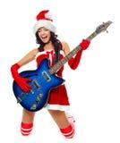 Ragazza che gioca una chitarra Immagine Stock