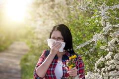 Ragazza che ha allergia Immagine Stock Libera da Diritti