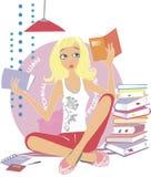 Ragazza che legge un libro Fotografia Stock