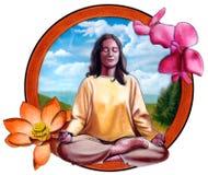 Ragazza che meditating royalty illustrazione gratis