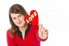 Ragazza che mostra amore Fotografie Stock Libere da Diritti