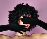 Fronte nascondentesi con le mani Fotografie Stock Libere da Diritti