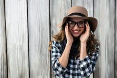 Ragazza che porta un cappello Fotografia Stock Libera da Diritti