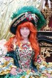 Ragazza che porta un vestito dalla principessa Immagini Stock