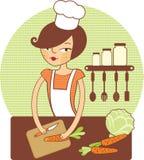 Ragazza che prepara insalata Fotografia Stock Libera da Diritti