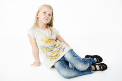 Ritratto di giovane ragazza bionda Fotografia Stock Libera da Diritti