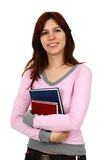 Ragazza che sorride con i libri Fotografie Stock
