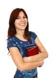 Ragazza che sorride con i libri Immagini Stock Libere da Diritti