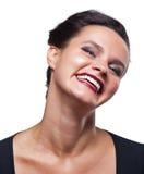 Ragazza che sorride mostrando i denti sani Fotografia Stock Libera da Diritti