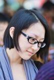 Ragazza cinese alla moda con una pelle pallida, Pechino, Cina fotografie stock