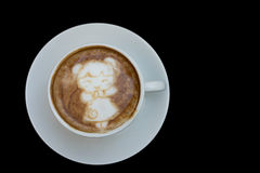 Ragazza cinese Art Coffee recente del nuovo anno fotografie stock