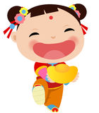 Ragazza cinese - nuovo anno cinese felice Fotografia Stock Libera da Diritti