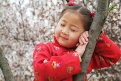 Ragazza cinese sveglia fotografia stock