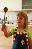 Ragazza come cuoco Fotografie Stock Libere da Diritti
