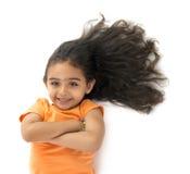 Ragazza con bei capelli Fotografia Stock