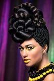 Ragazza con capelli Fotografia Stock