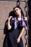 Ragazza con capelli colorati fotografia stock libera da diritti