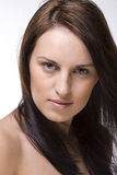 Ragazza con capelli di salto Fotografia Stock Libera da Diritti