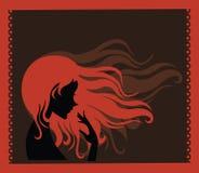 Ragazza con capelli lunghi Fotografia Stock Libera da Diritti