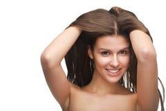 Ragazza con capelli lunghi immagini stock libere da diritti