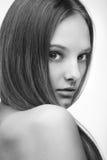 Ragazza con capelli lunghi fotografia stock