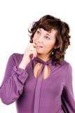 Ragazza con capelli ricci Immagine Stock