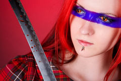 Ragazza con capelli rossi immagine stock libera da diritti